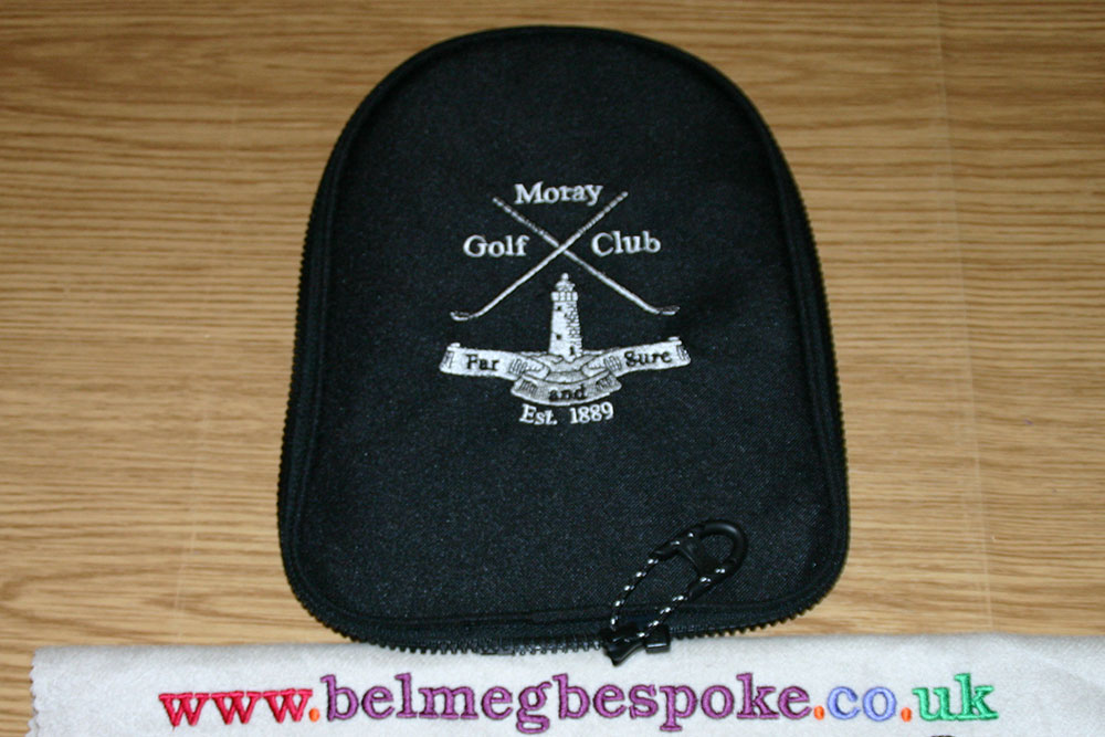 Golf bag embroidery personalisation in elgin